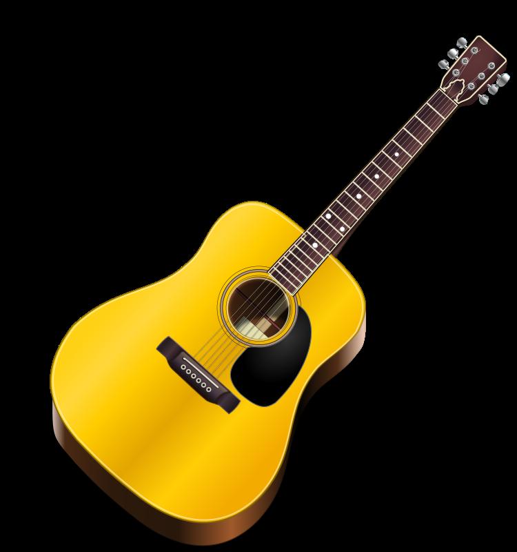 Acoustic guitar open