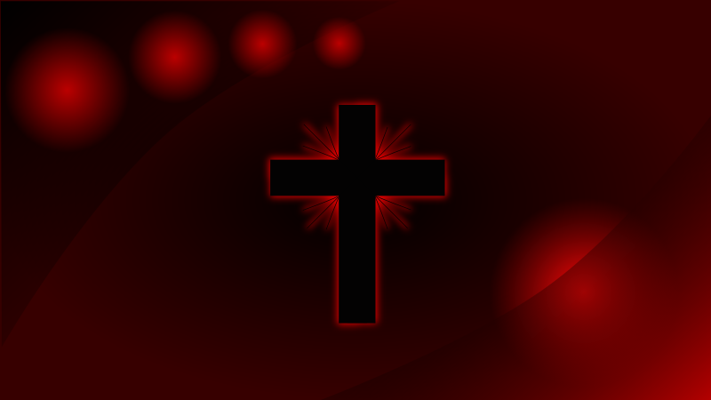 Red Glowing Cross Wallpaper by mystica - A wallpaper that i have made. it´s a 16:9 vector graphics and can be exported to full HD 1080 .png picture, that´s exporting from the program inkscape as it is made in!! ...enjoy!! :-)