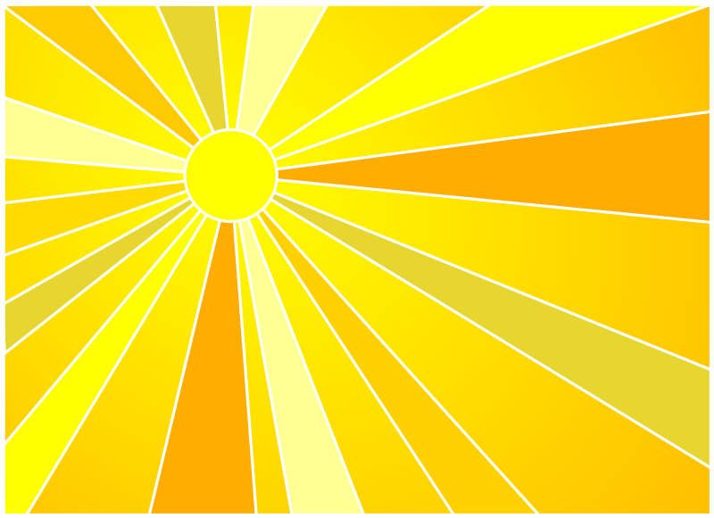 Sun by laobc - Sun with yellow and orange rays.