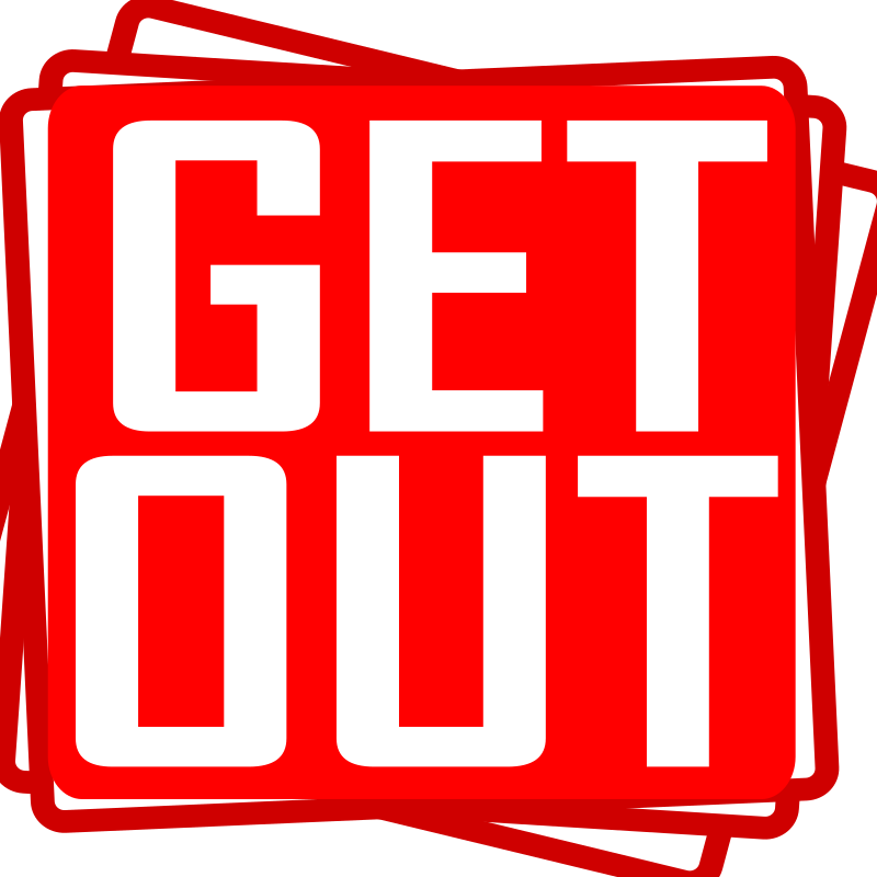 get out by aungkarns - get out,bujung,stamp