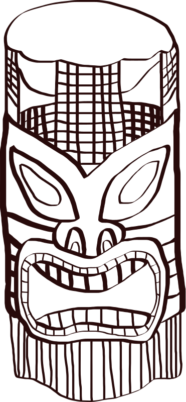 Tiki by caseyconway - A tiki made with Inkscape