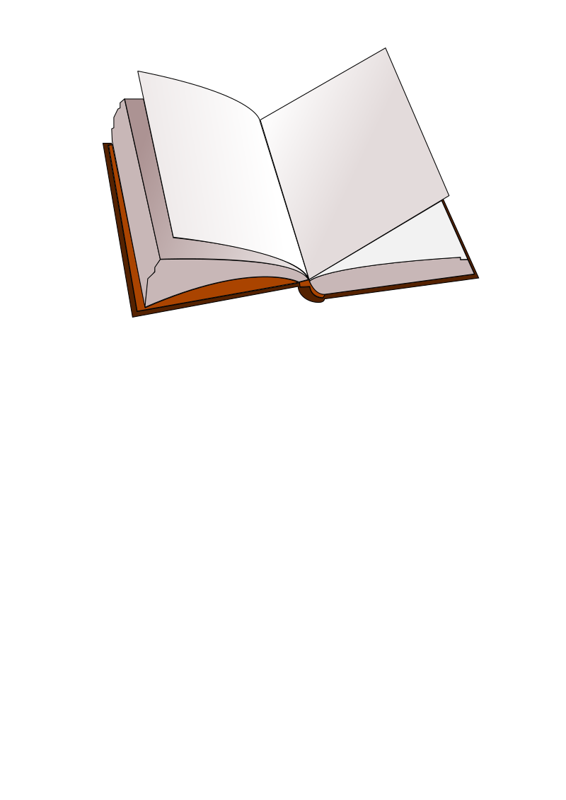 open book by cyber-nomad - Just practising in Inkscape :-) Maybe it will be useful for somebody.
