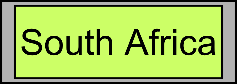 "Display_21_Digital_South_Africa by palomaironique - Digital Display with ""South Africa"" text - Affichage numérique avec texte ""South Africa"" - Digital Anzeige mit ""South Africa"" Text - Display digitale con testo ""South Africa"""