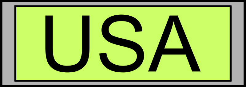 "Digital Display with ""USA"" text by palomaironique - Digital Display with ""USA"" text - Affichage numérique avec texte ""USA"" - Digital Anzeige mit ""USA"" Text - Display digitale con testo ""USA"""