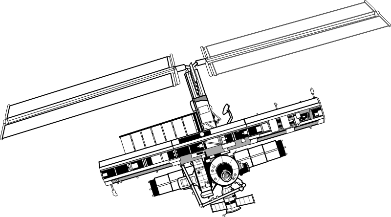 International Space Station by johnny_automatic - a drawing of the International Space Station from a NASA activity book.