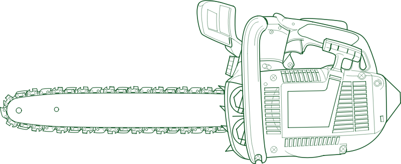 Chain Saw by JicJac - chain saw, chainsaw, saw, saw, small engine, stump, svg,tool, tree,