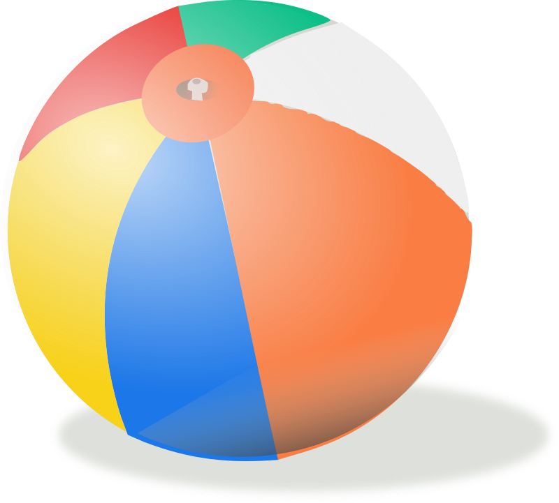 beach ball by rg1024 - A beach ball shaded.