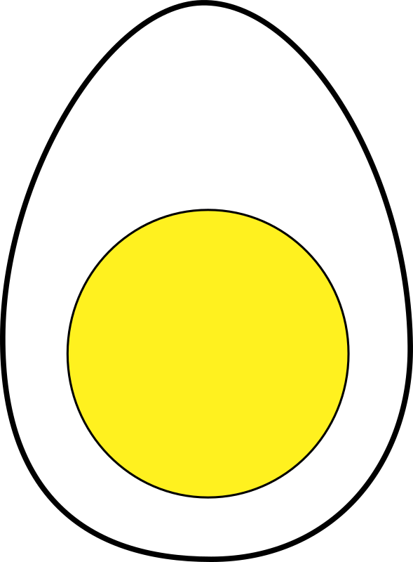 egg by dStulle - A simple egg cut in half.