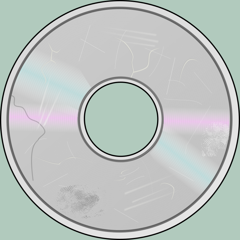 More Obviously Damaged Compact Disc by eady - Some of the damage wasn't very visible at small sizes, so I made it a bit more obvious.