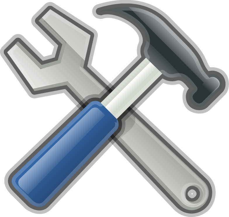 Tools, Hammer, Spanner by Andy - A very glossy yet socialist looking hammer and spanner ;-)
