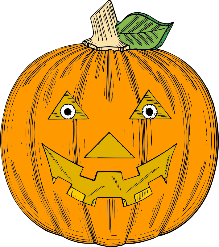 pumpkin face by johnny_automatic - a carved pumpkin with facial features from a US patent drawing