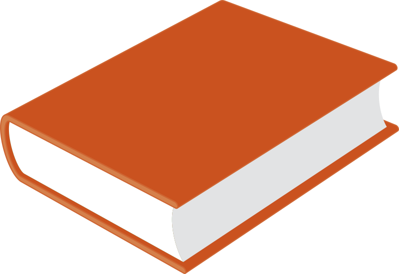 Book by gramzon - A closed book with a red cover.