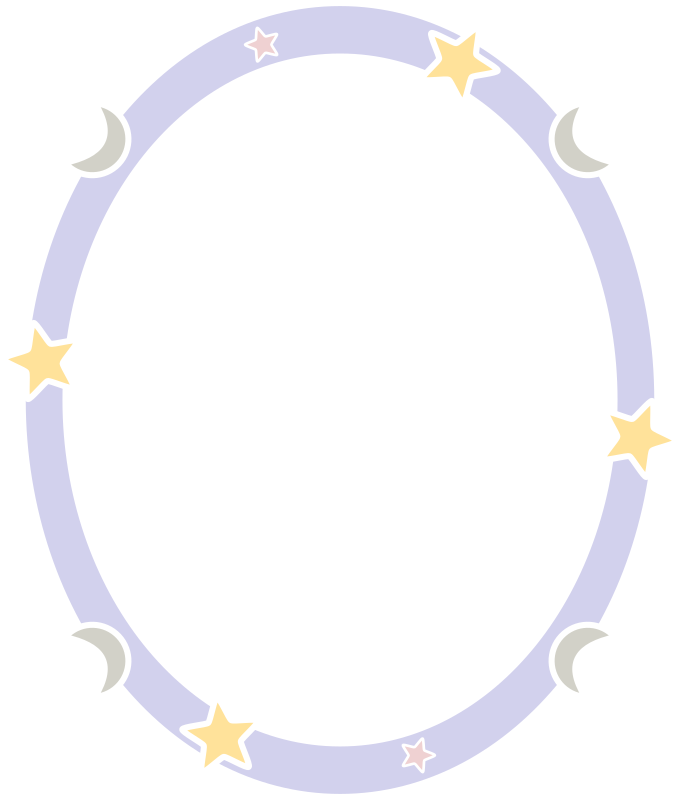 Starry night frame by laobc - A simple frame/border with stars and moons.