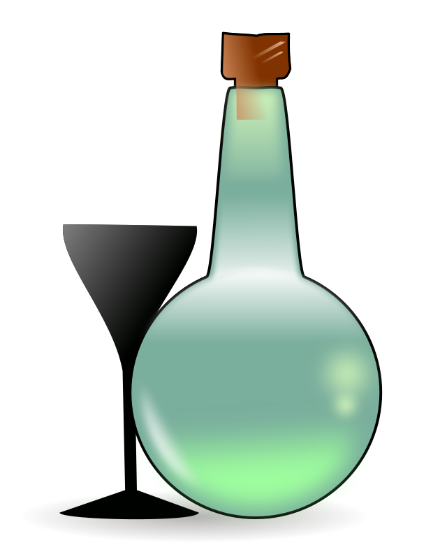 Bottle of absinth by Romanov