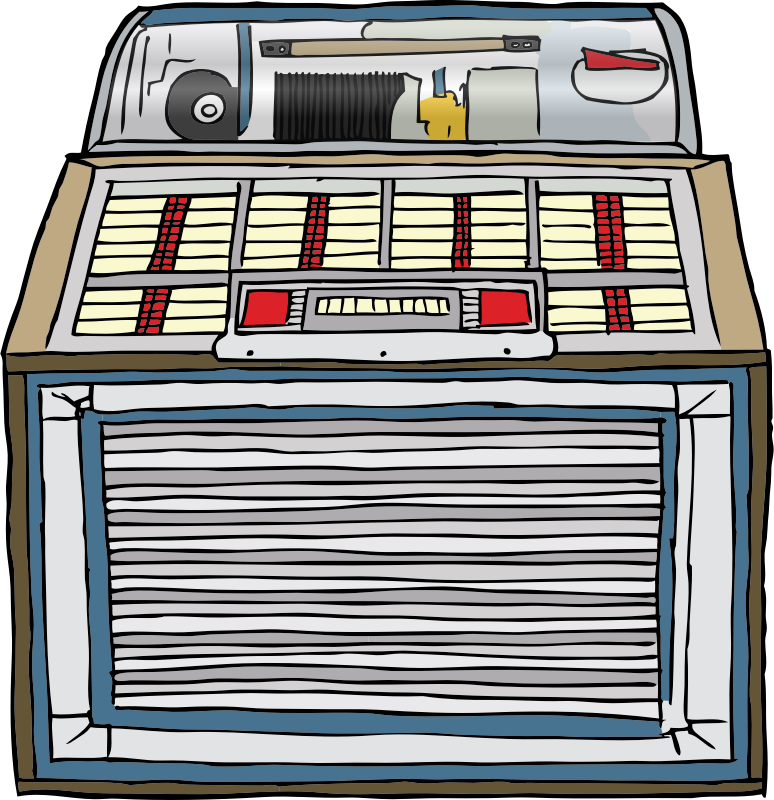 Jukebox by SteveLambert - Detailed color drawing of a jukebox, perhaps from the 50's
