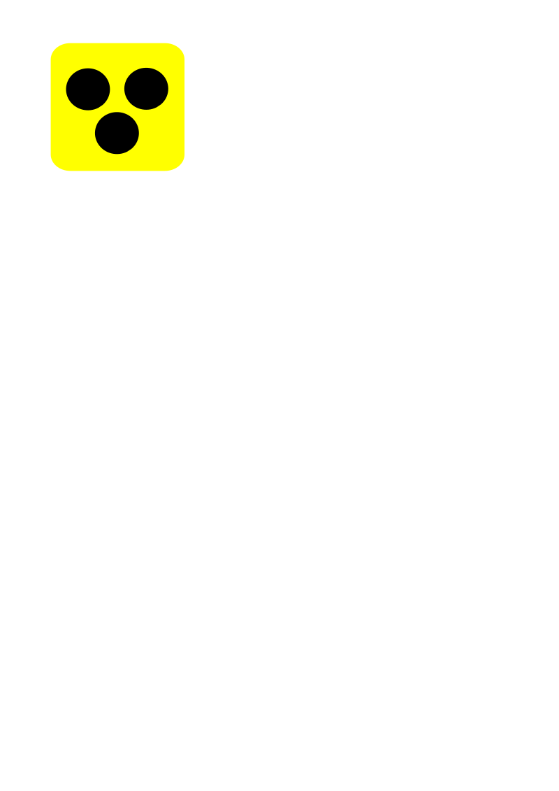 Blind symbol by petersirka - Blind symbol with three dots over a yellow square.