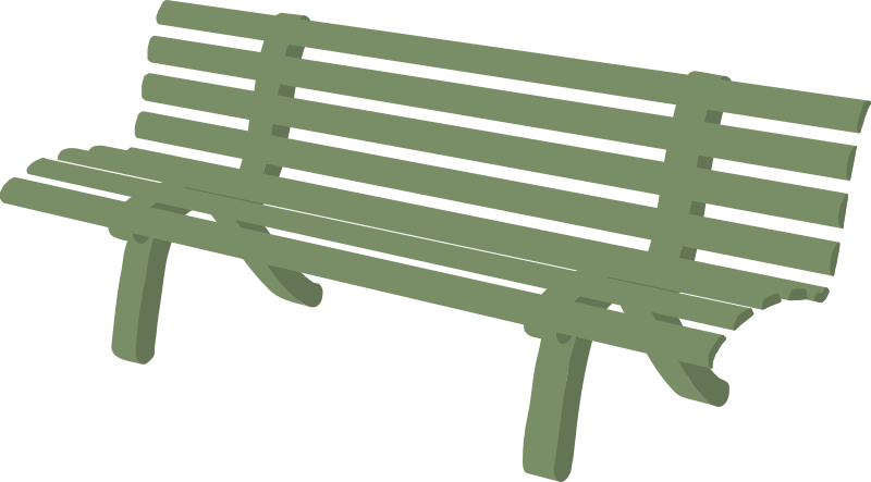 Bench by gramzon - A green garden bench Park Bench Clipart Black And White