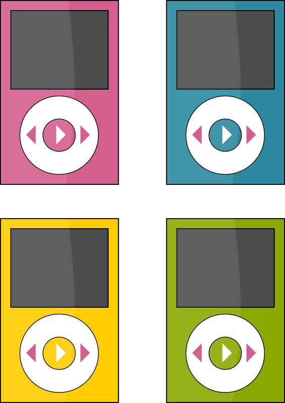 ipod by i-art - 4 coloured ipods