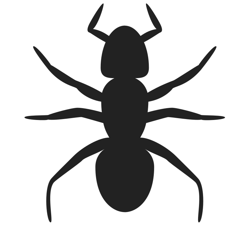 Ant Icon by rejon - This is a lame flat version of Andy's ant ready for use as a solid element in a logo or on a poster.