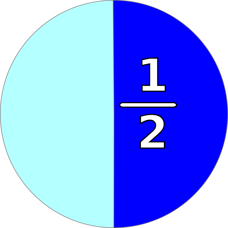 part and fraction 1/2 by mireille - fraction 1/2 and corresponding part of pie