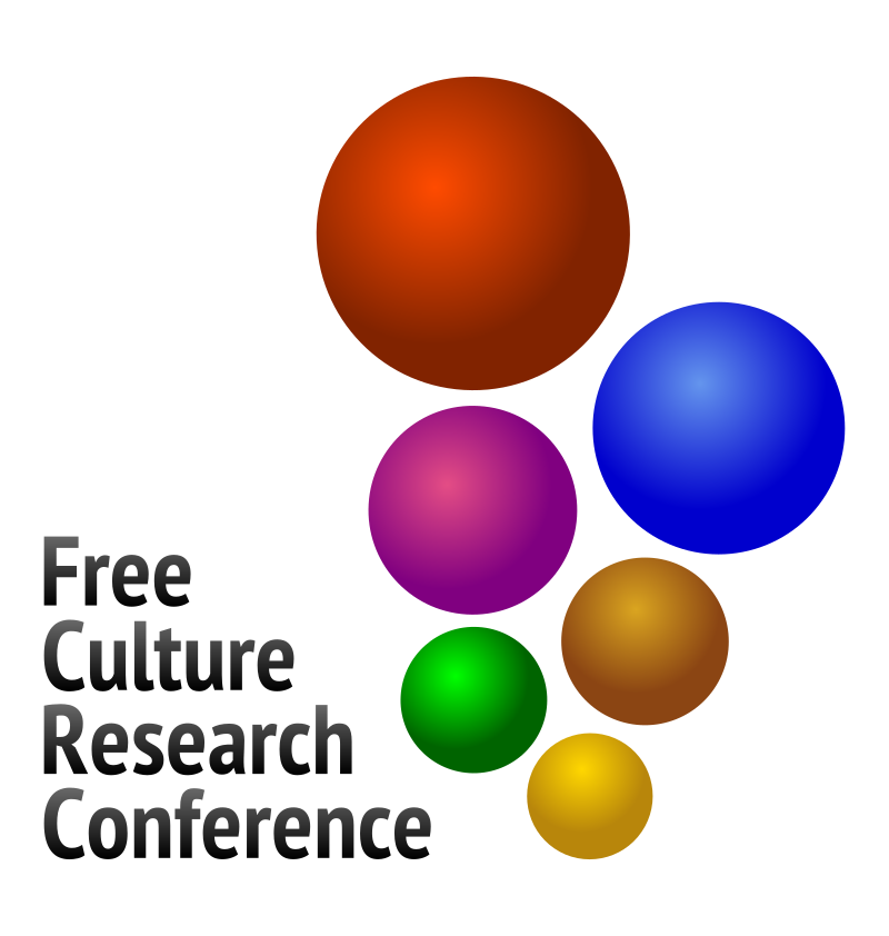 Free Culture Research Conference logo V2 by jumpordie - V2