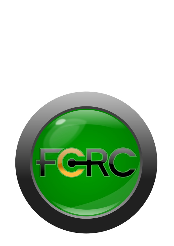FCRC button/logo with text by timeth - An FCRC button logo with the FCRC text I made previously.