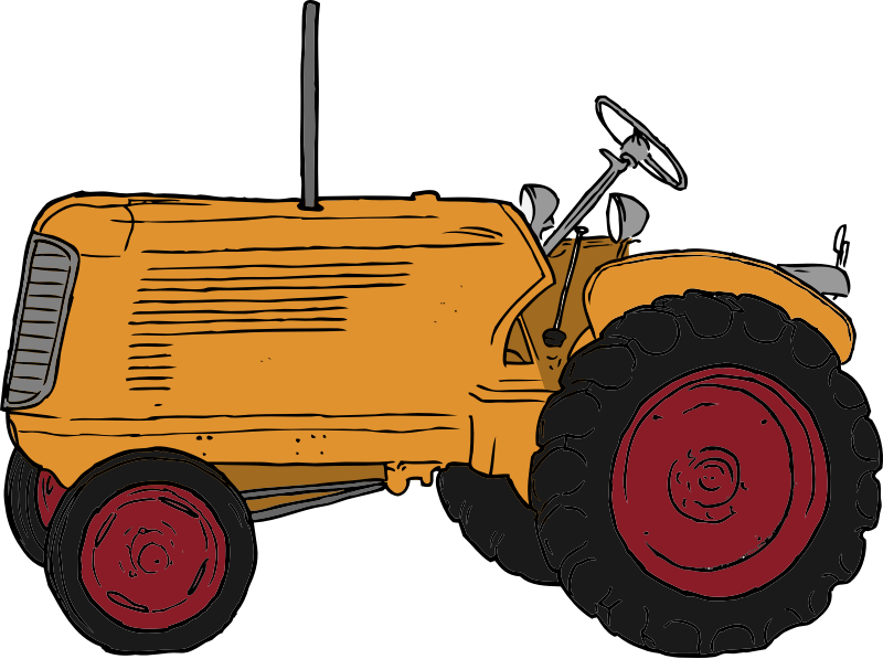 Tractor by SteveLambert - Color drawing of a vintage tractor.  Colored by Packard Jennings.