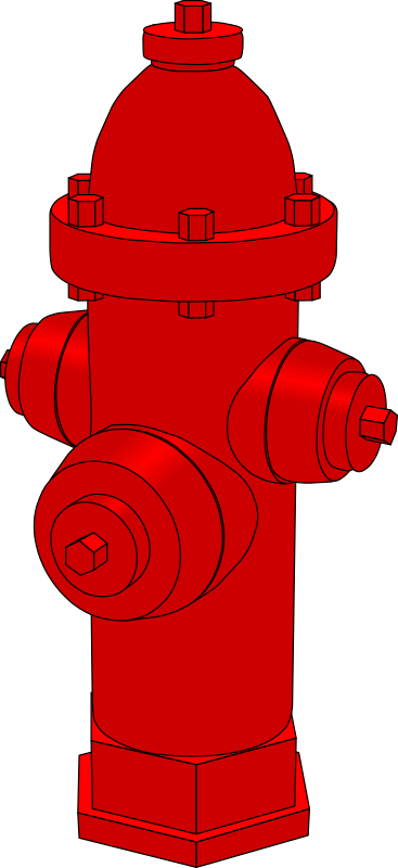 Fire hydrant by gramzon - A red fire hydrant.
