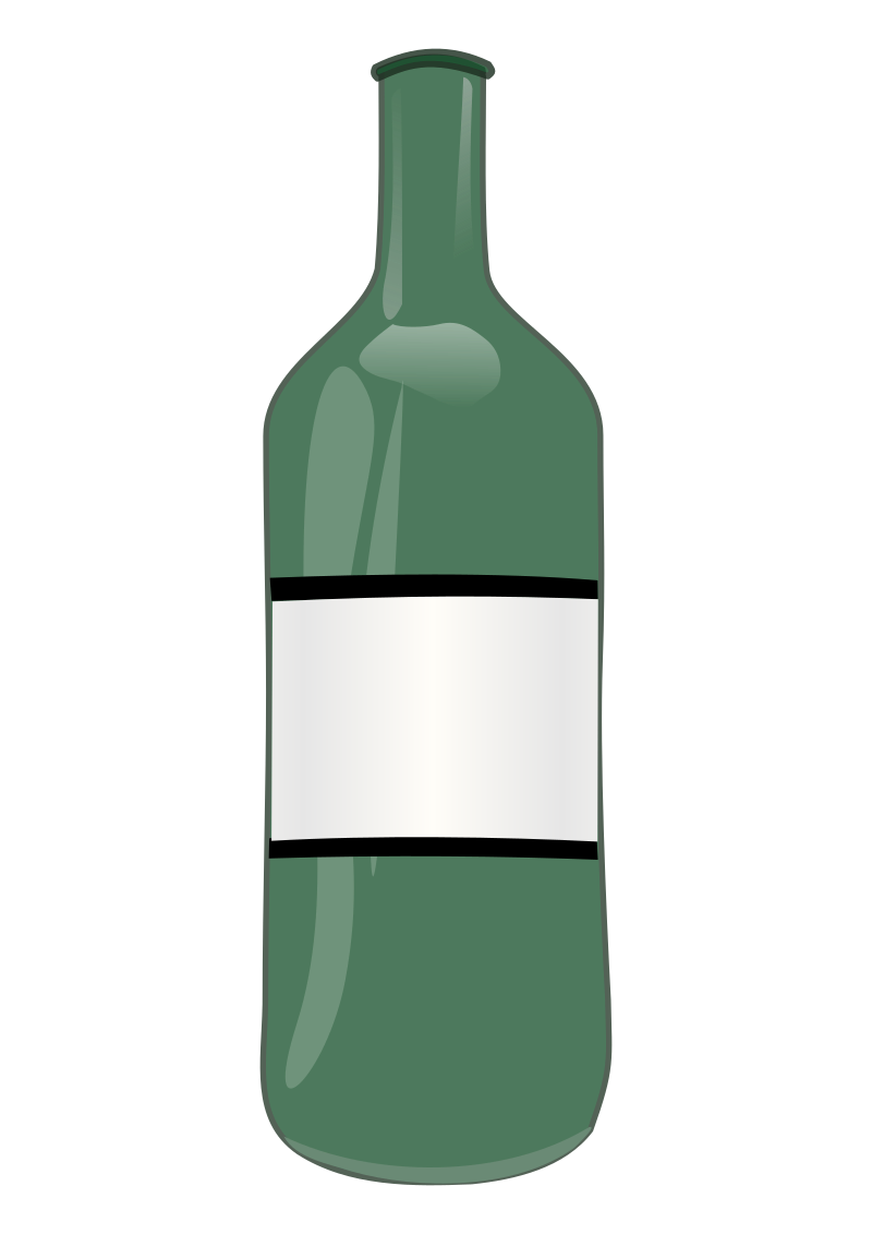 Wine Bottle by Solarisphere - Wine Bottle with a label.