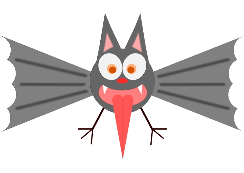 Funny Bat  by hiro - Try it and have fun with this funny bat