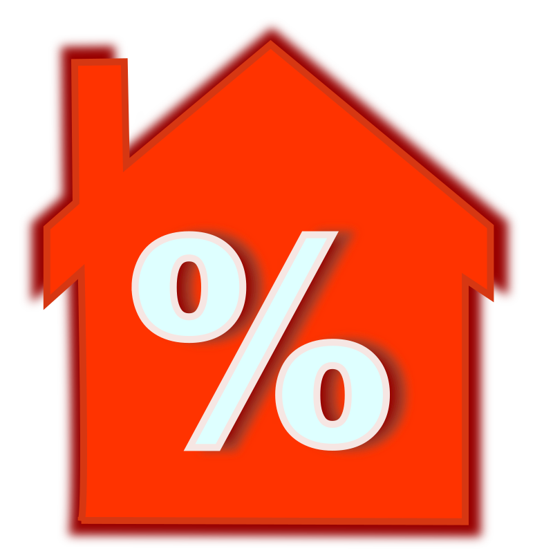 home-loan-interest-rate by netalloy - real estate clipart
