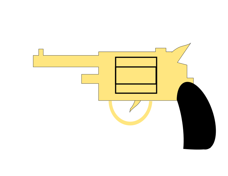 Gun. Pistol. by Ehecatl1138 - A revolver pointing to the left.