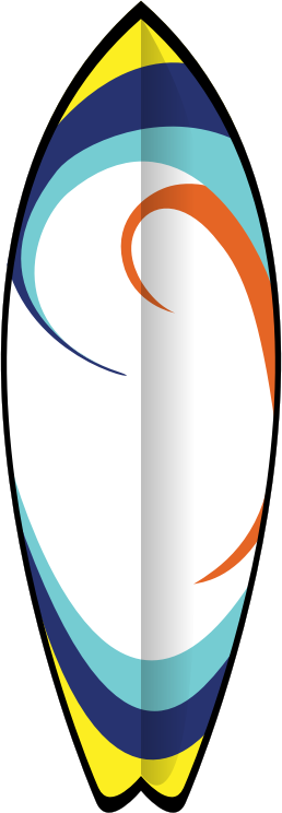 "Summer Surfboard by pianoBrad - A surfboard, created for the ""summer2010"" clip art package."