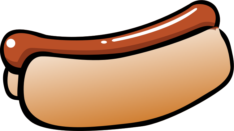 "Summer Hot Dog by pianoBrad - A hot dog, created for the ""summer2010"" clip art package."