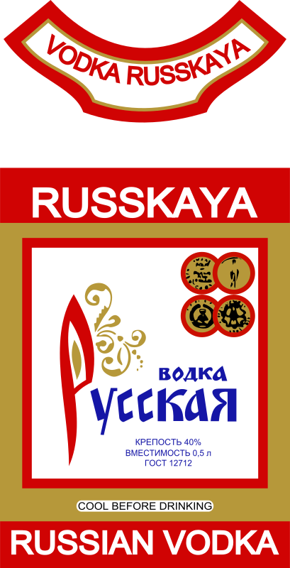 Russian vodka by rones -