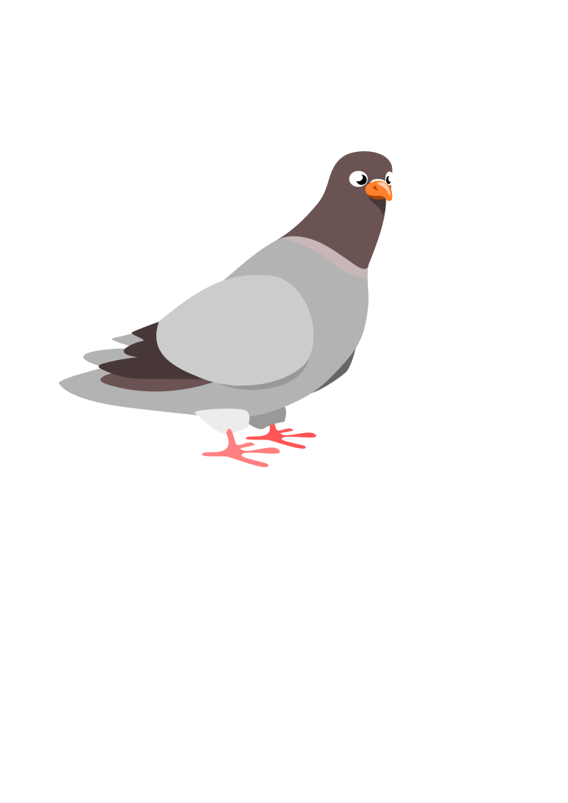 Pigeon by wildchief - A cartoon pigeon drawn in Inkscape