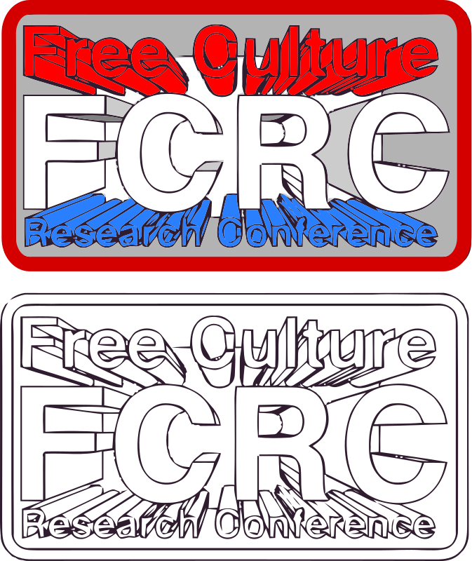 3D FCRC by aungkarns - Free Culture Research Conference Logo Contest!