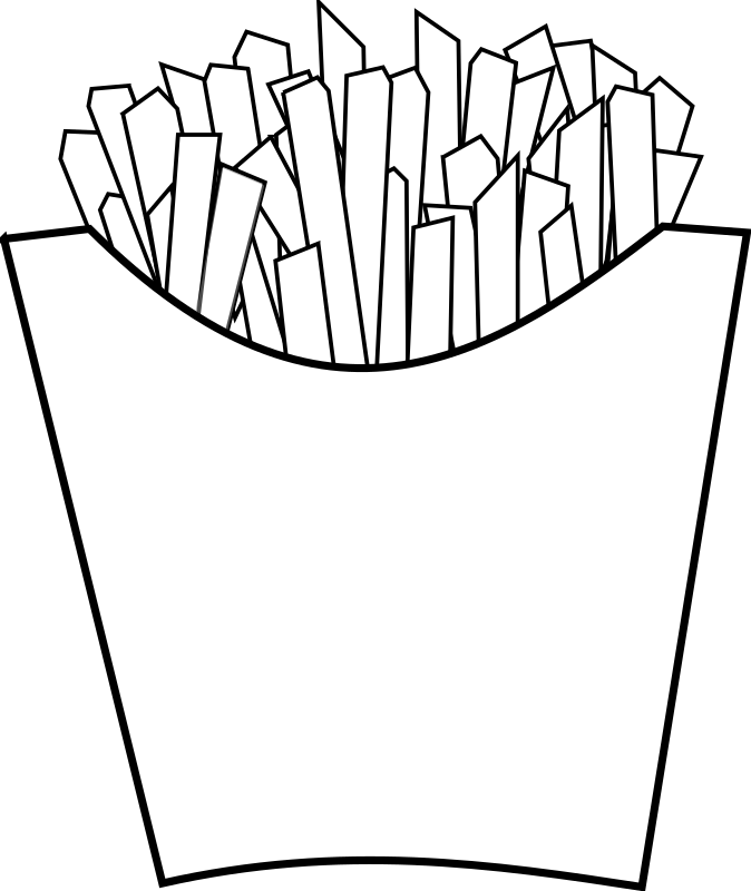 French fries Line Art by horse50