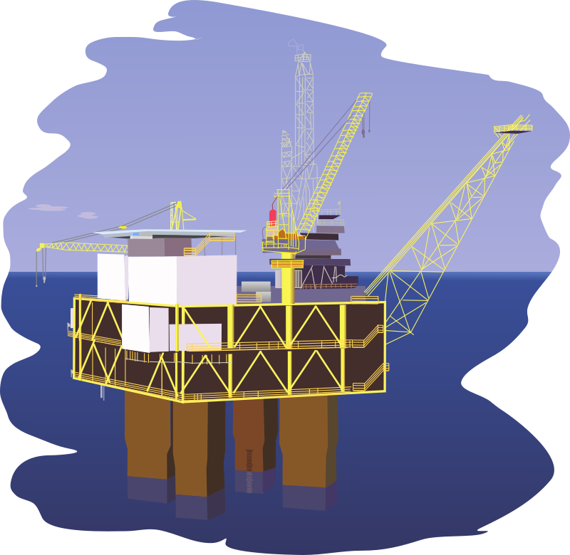Oil rig by regelatwork - An oil rig in a tranquil sea