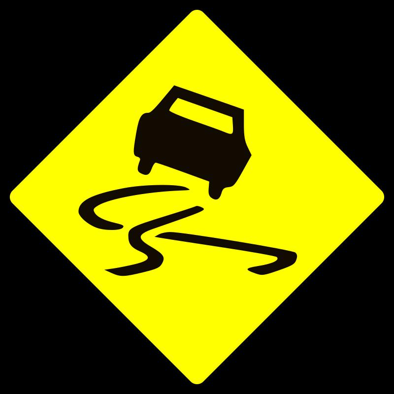 Clipart - Slippery when wet