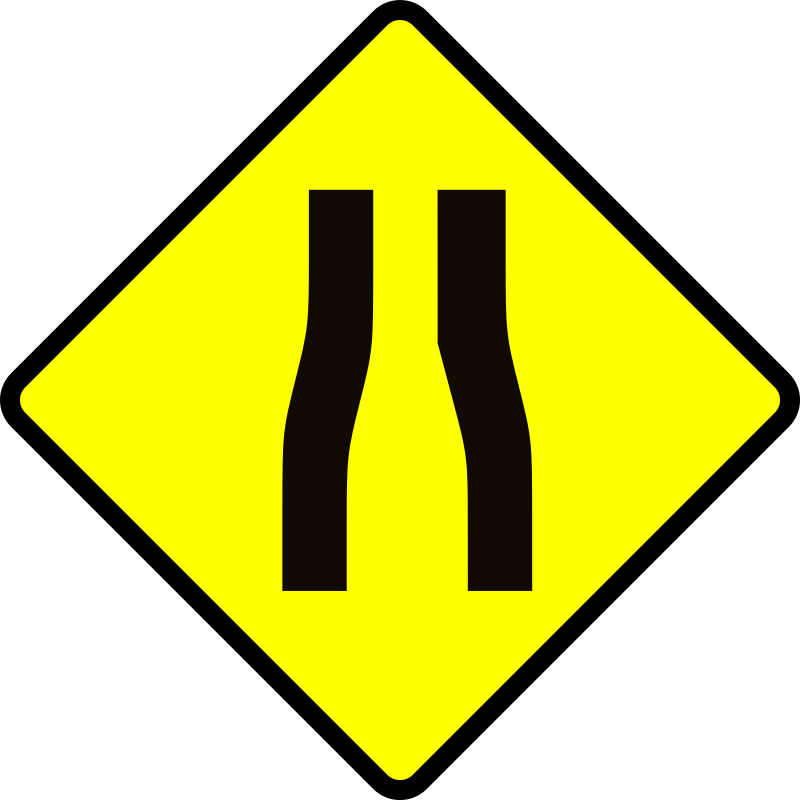 caution_road narrows by Leomarc - Caution road narrows.