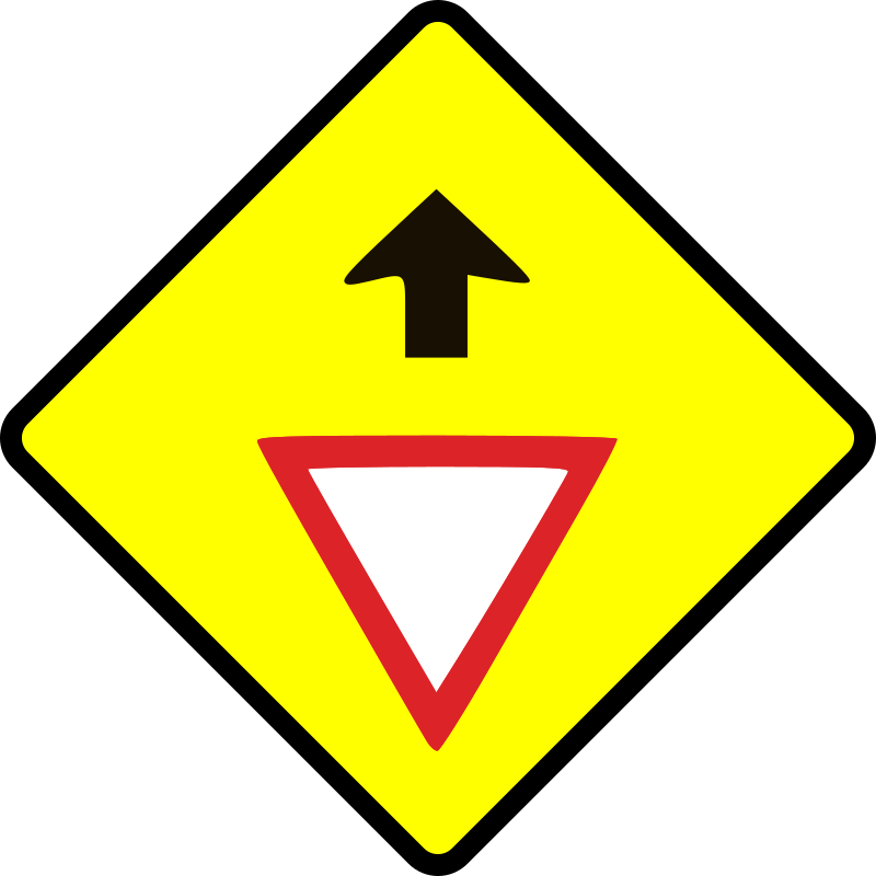 caution_give way sign by Leomarc - Caution give way sign.