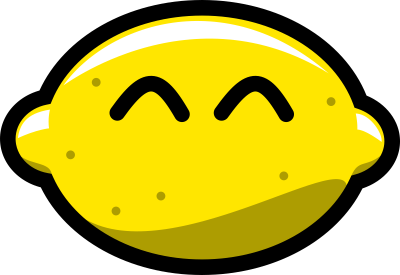 Happy Lemon by pixelflake - The lemon, which smiles at you!