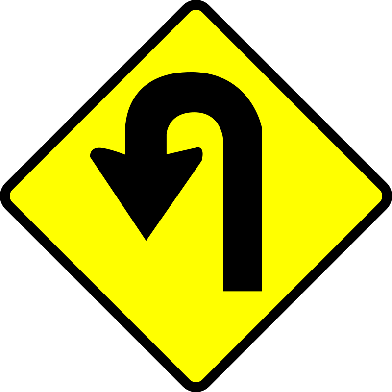 Clipart Caution U Turn