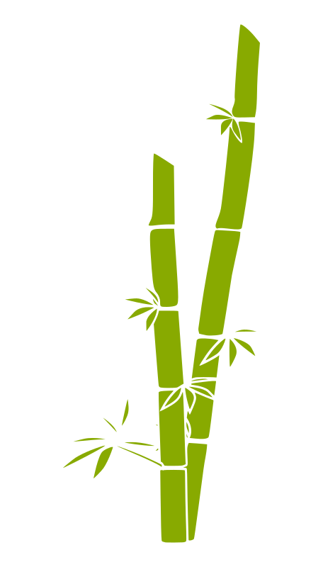 bamboo by a_rdhny - Bamboo silhouette in green.