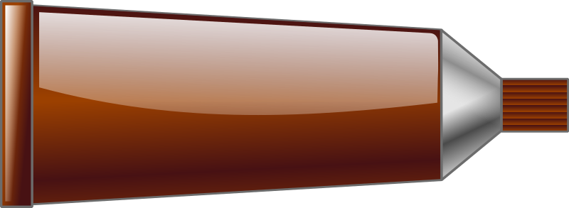 Color tube Brown by TrnsltLife - Colored tube of paint