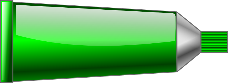 Color tube Green by TrnsltLife - Colored tube of paint