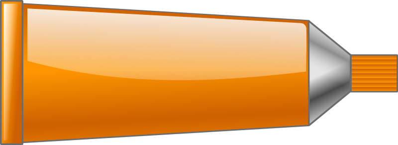 Color tube Orange by TrnsltLife - Colored tube of paint