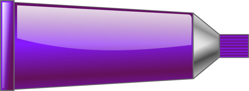 Color tube Purple by TrnsltLife - Colored tube of paint
