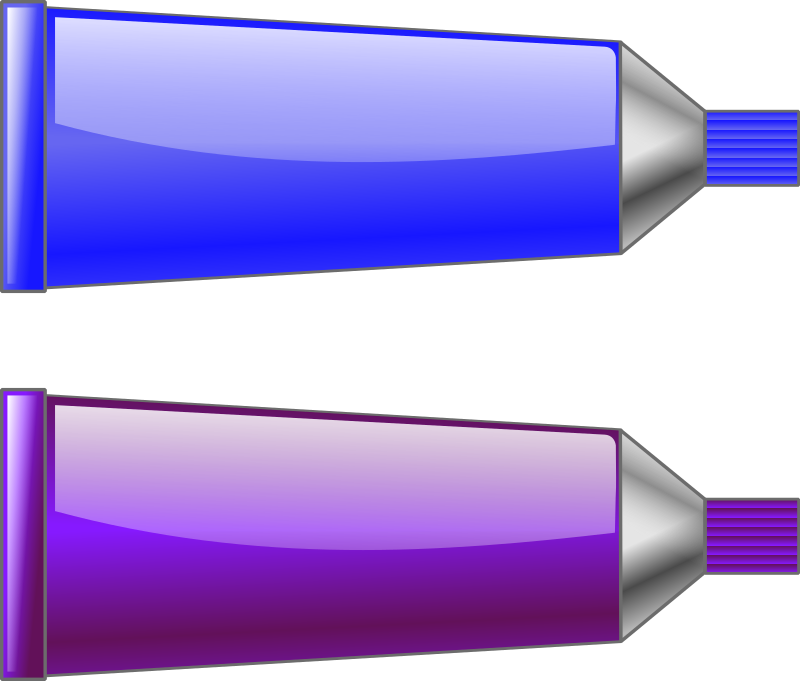 Color tube Blue Purple by TrnsltLife - Colored tubes of paint